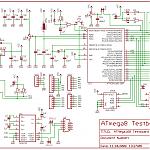 Schaltplan des ATMega168 Testboards