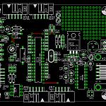 Bestückungsplan des ATMega168 Testboards