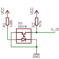 Grundbeschaltung eines CNY70
