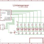 Schaltplan zum Liniensensor