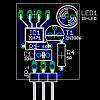 Bestückungsplan des einfachen IS471 Abstandssensor